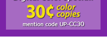 Universal Printing | Winter Special | 30¢ Color Copies | Digital Color Prints for $0.30